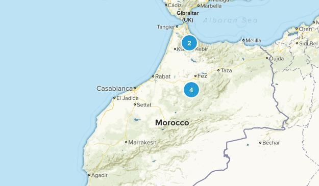 Marrakech - Tensift - Al Haouz, Morocco Nature Trips Map