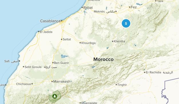 Marrakech - Tensift - Al Haouz, Morocco Trail Running Map