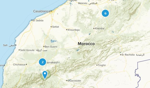 Marrakesh-Tensift-El Haouz, Morocco Walking Map
