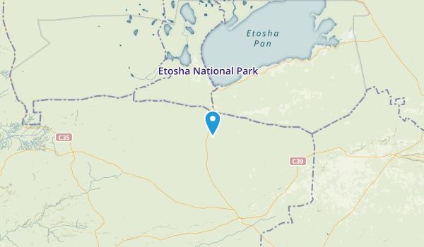 Oshana, Namibia Parks Map