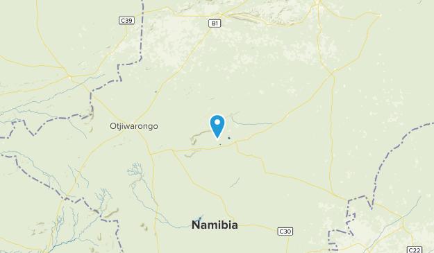 Otjozondjupa, Namibia National Parks Map