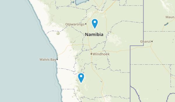 Otjozondjupa, Namibia Parks Map