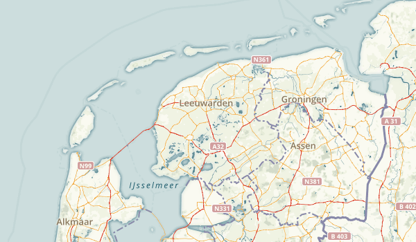 Friesland, Netherlands Parks Map