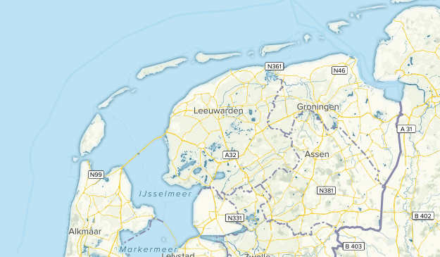 Friesland, Netherlands Parks Map