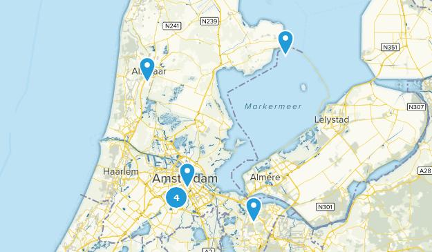 Noord-Holland, Netherlands Historic Site Map