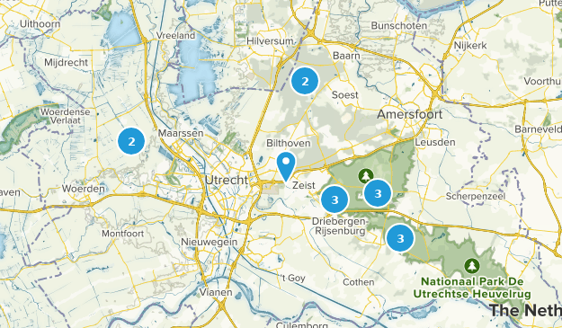 Utrecht, Netherlands Forest Map