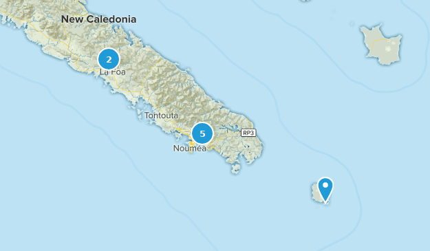 Sud, New Caledonia Hiking Map