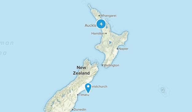 Auckland, New Zealand No Dogs Map
