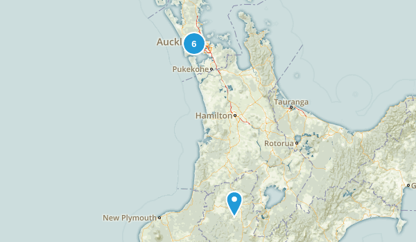 Auckland Region, New Zealand Backpacking Map