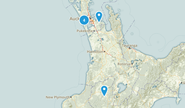 Auckland Region, New Zealand Camping Map