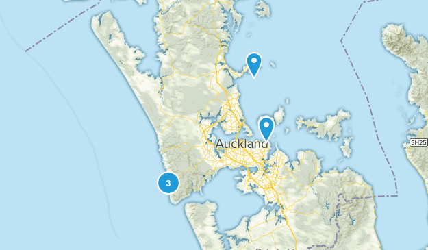 Auckland Region, New Zealand Cave Map