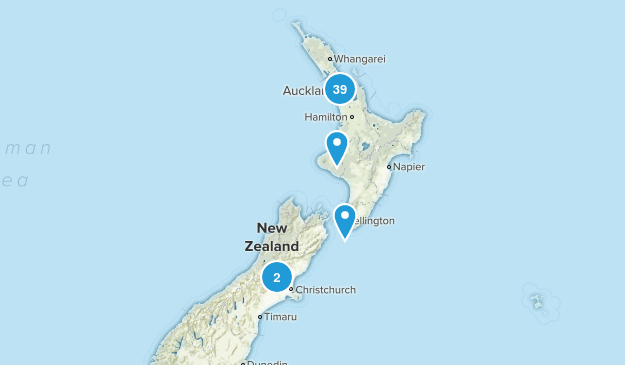 Auckland Region, New Zealand Forest Map