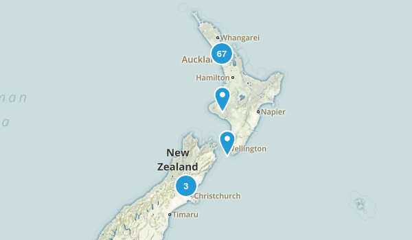 Auckland Region, New Zealand Hiking Map