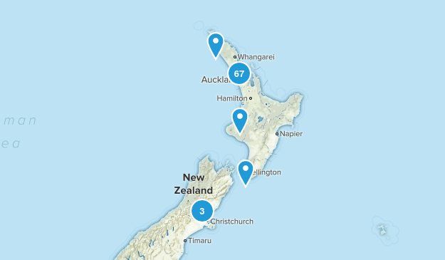 Auckland Region, New Zealand Hiking Map