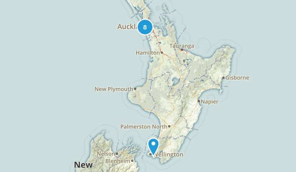 Auckland Region, New Zealand Historic Site Map