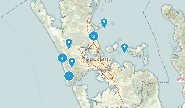 Auckland Region, New Zealand Kid Friendly Map