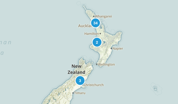 Auckland Region, New Zealand Nature Trips Map