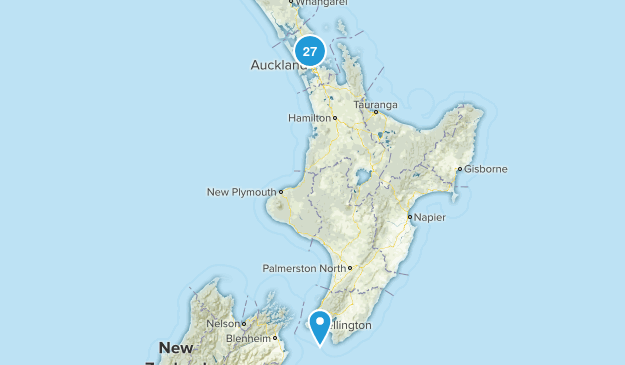 Auckland Region, New Zealand Parks Map