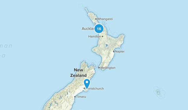 Auckland Region, New Zealand Trail Running Map