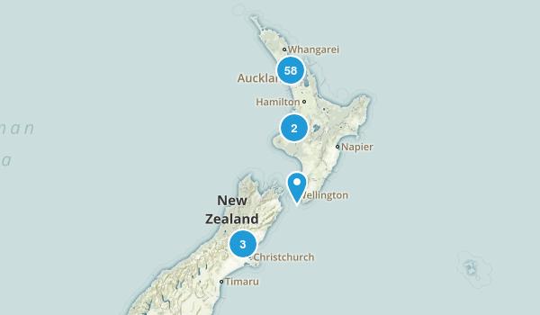 Auckland Region, New Zealand Views Map