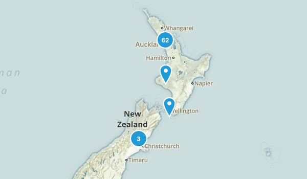 Auckland Region, New Zealand Walking Map