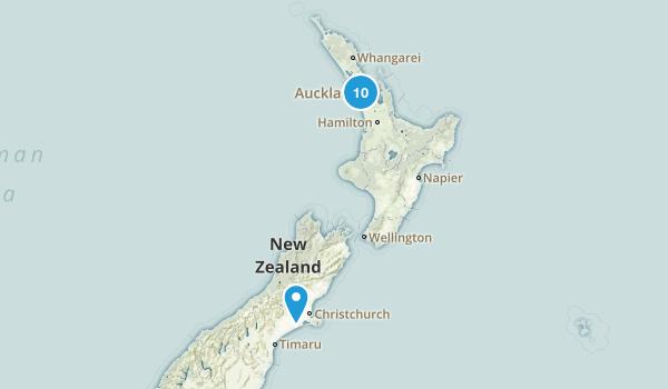 Auckland Region, New Zealand Waterfall Map