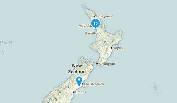Auckland Region, New Zealand Wild Flowers Map