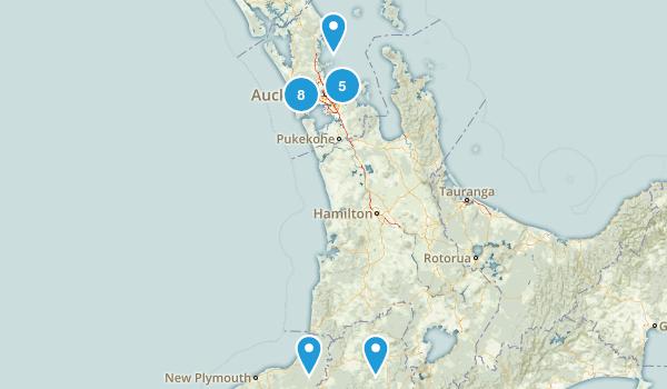 Auckland Region, New Zealand Wildlife Map