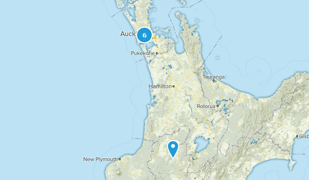 Aukland, New Zealand Backpacking Map