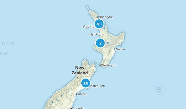 Aukland, New Zealand Birding Map