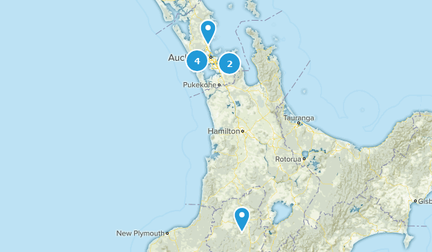 Aukland, New Zealand Camping Map