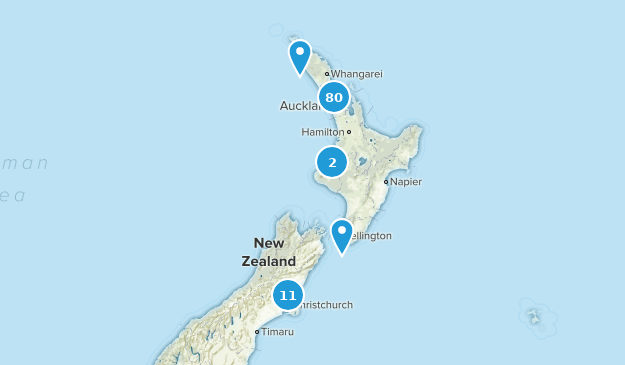Aukland, New Zealand Hiking Map