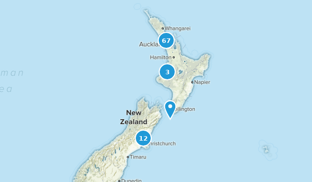 Aukland, New Zealand Nature Trips Map