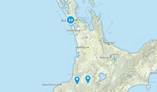 Aukland, New Zealand River Map