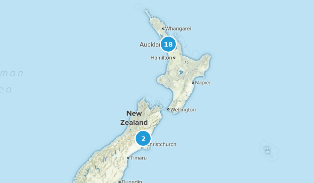 Aukland, New Zealand Trail Running Map