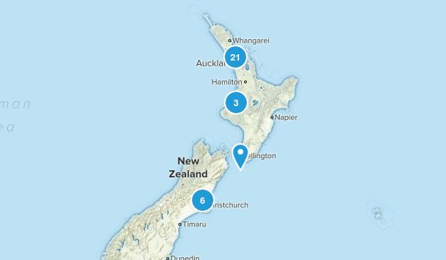 Aukland, New Zealand Wildlife Map
