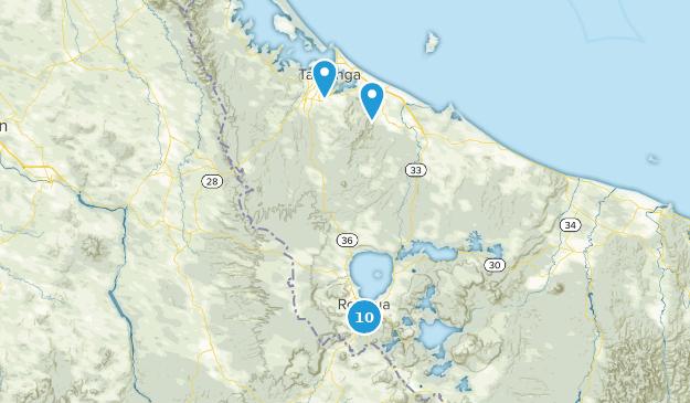 Bay of Plenty, New Zealand Mountain Biking Map