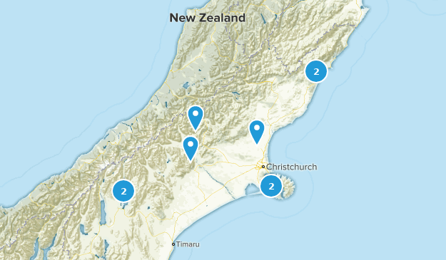 Canterbury, New Zealand Backpacking Map