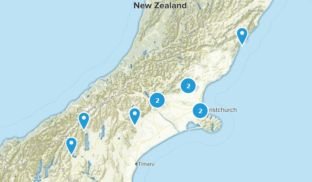 Canterbury, New Zealand Forest Map