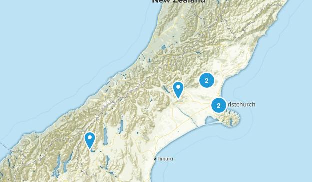 Canterbury Region, New Zealand Forest Map