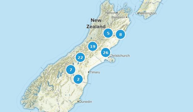 Canterbury Region, New Zealand Views Map