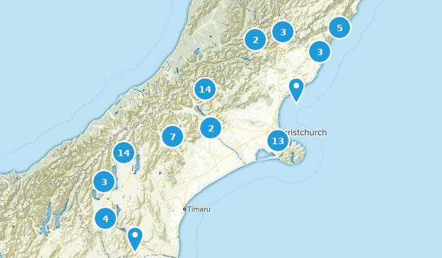 Canterbury, New Zealand Views Map
