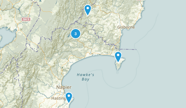 Hawke's Bay Region, New Zealand Birding Map