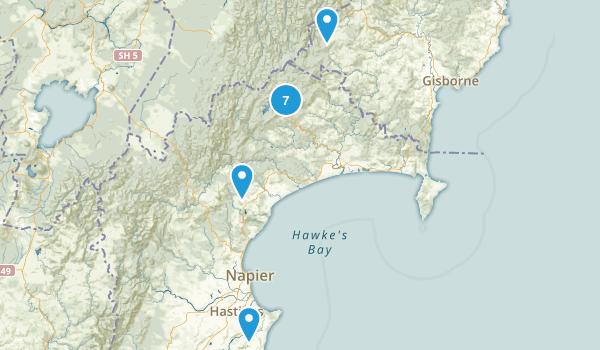 Hawke's Bay Region, New Zealand Forest Map