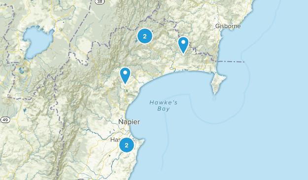 Hawke's Bay Region, New Zealand Kid Friendly Map