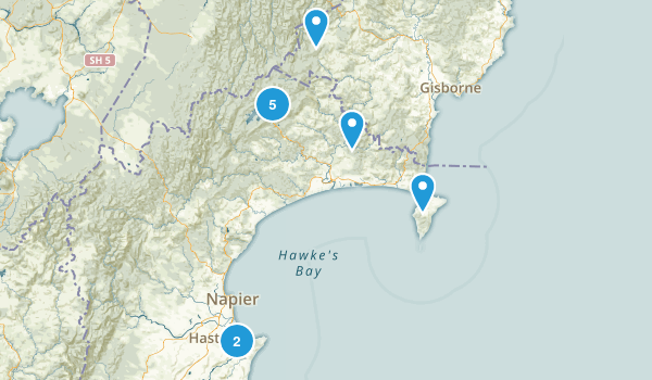 Hawke's Bay Region, New Zealand Views Map