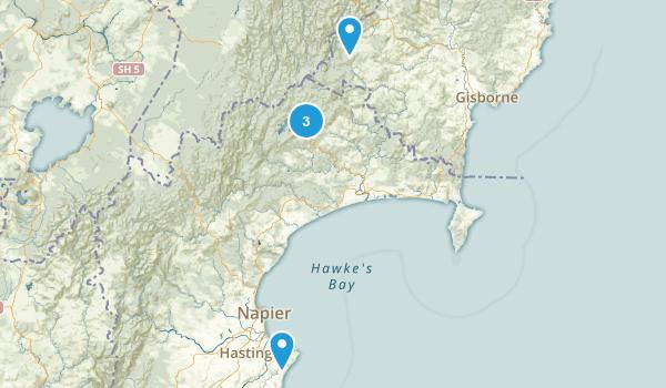 Hawke's Bay Region, New Zealand Wildlife Map