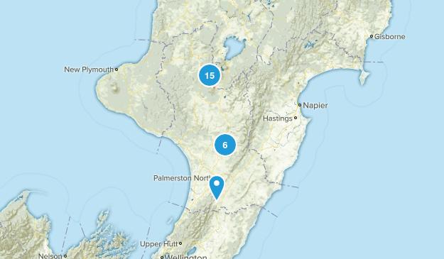 Manawatu-Wanganui Region, New Zealand Birding Map