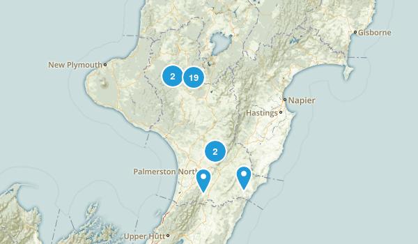 Manawatu-Wanganui Region, New Zealand Hiking Map