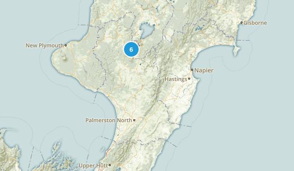 Manawatu-Wanganui Region, New Zealand Lake Map